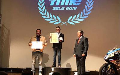 BeOn recoge sus títulos de Campeón de España de 85 GP y Moto4, en la Gala RFME 2018