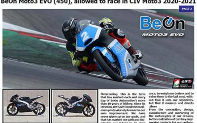 BeOn Moto3 Evo 450GP & CIV 2020-2021
